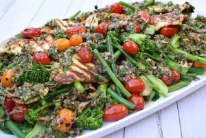 Broccolini & Haloumi Salad